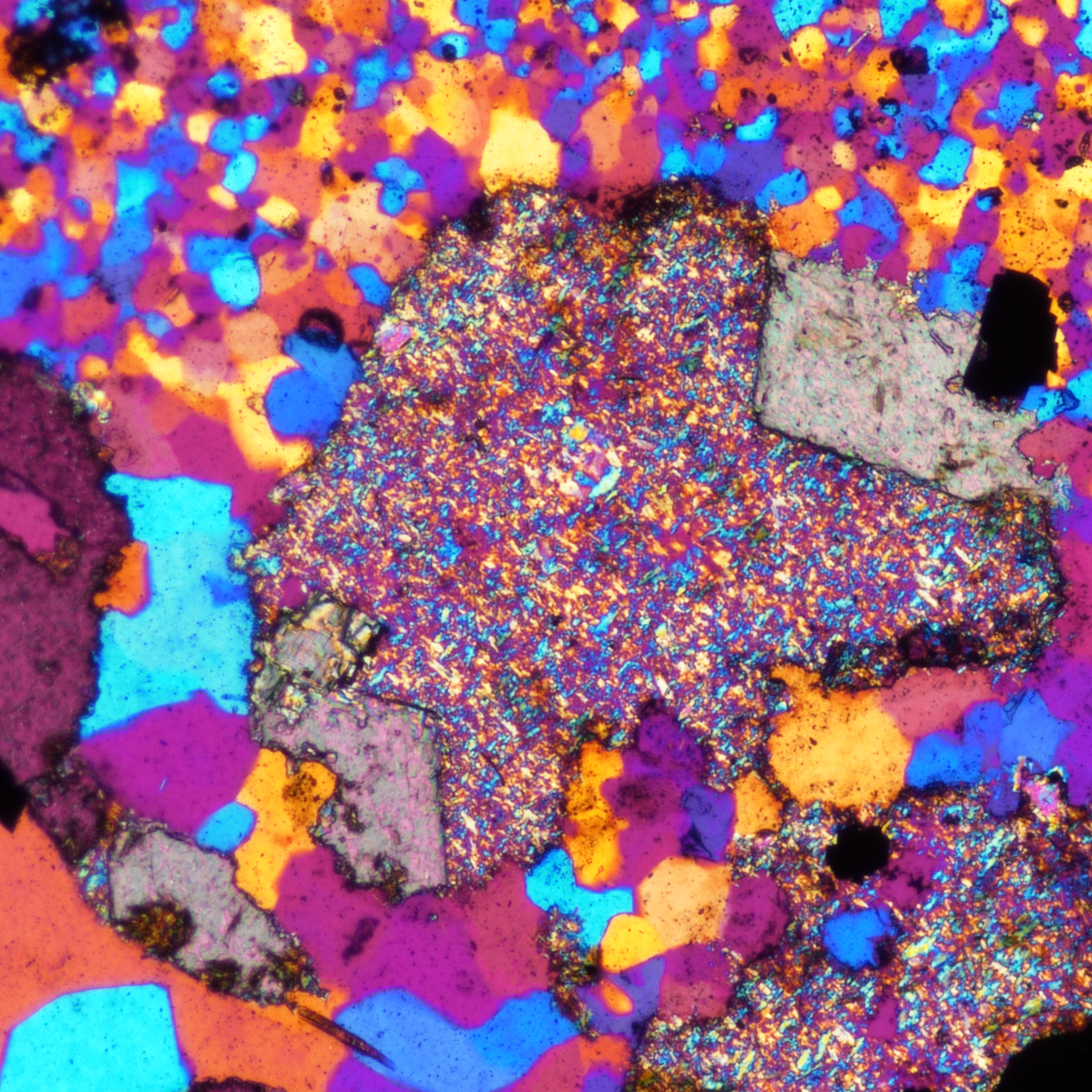 Granular iron formation thin section image